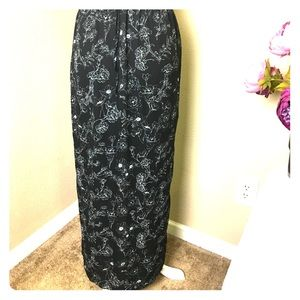 Forever 21 Floral Maxi Skirt, Size L
